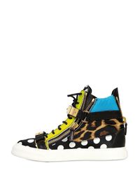 Giuseppe Zanotti   Multicolor 20mm Satin and Leather Sneakers   Lyst
