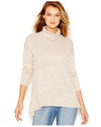 Kensie | Natural Space-dye Cowl-neck Sweater | Lyst