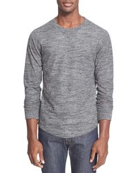 Todd Snyder | Gray Double Knit Long Sleeve Sweater for Men | Lyst