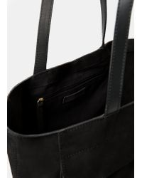 Violeta by Mango | Black Suede Shopper Bag | Lyst