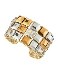 Panacea | Gray Square Crystal Cuff | Lyst