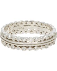 Cathy Waterman | White Triple-band Ring | Lyst