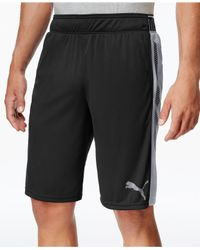 PUMA - Black Men's Tilted Form Stripe Shorts for Men - Lyst