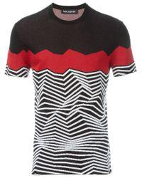 Neil Barrett | Black Angular Stripe Knit Top for Men | Lyst