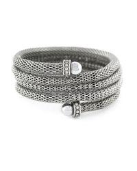 BCBGeneration | Metallic Crystal Coil Cuff Bracelet | Lyst