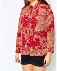 ASOS - Multicolor Curve 70's Slim Fit Shirt In Retro Daisy Print - Lyst