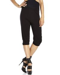 Rick Owens Lilies - Black Cropped Jersey Pants - Lyst