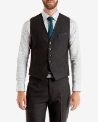Ted Baker | Gray Birdseye Waistcoat for Men | Lyst