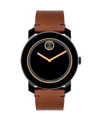 Movado - Brown Bold Tr90 Stainless Steel Watch - Lyst
