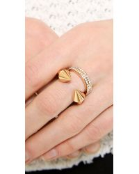 Vita Fede | Pink Titan Plain Double Crystal Band Ring | Lyst