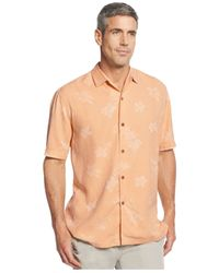 Tommy Bahama - Orange Big And Tall Short-sleeve Floral-print Shirt for Men - Lyst