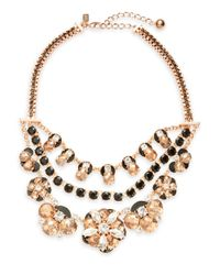 kate spade new york | Metallic Fame And Flowers Statement Necklace | Lyst