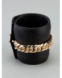 Giuseppe Zanotti - Black Chain Embellished Cuff - Lyst