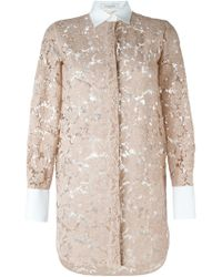 Valentino - Natural Lace Shirt - Lyst