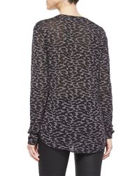 Belstaff - Gray Long-sleeve Animal-print T-shirt - Lyst