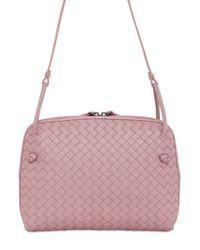 Bottega Veneta - Pink Small Intrecciato Nappa Leather Bag - Lyst