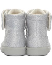 Maison Margiela - Gray Future Python-Print High-Top Sneakers for Men - Lyst