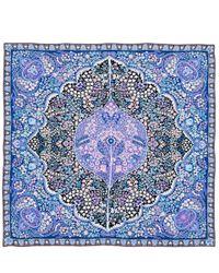 Liberty - Blue Tanjore Gardens Silk Twill Scarf - Lyst