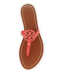 Tory Burch - Pink Mini Miller Leather Sandals - Lyst