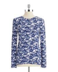 MICHAEL Michael Kors | Blue Printed Georgette Shirt | Lyst