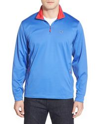 Vineyard Vines | Blue Zip Performance Sweater for Men | Lyst