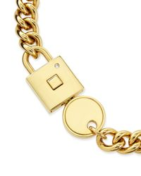 Marc By Marc Jacobs | Metallic Lock-in Golden Statement Necklace | Lyst