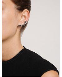Fernando Jorge - 18k Oxidised Gold and Black Diamond Lobe Earrings - Lyst