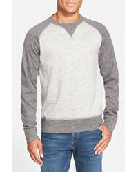 The North Face - Gray 'copperwood' Raglan Crewneck Shirt for Men - Lyst