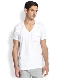 2xist | White Slub Cargo Pocket Tee for Men | Lyst