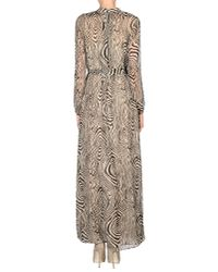 INTROPIA | Natural Abstract-Print Silk Maxi Dress  | Lyst