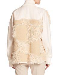 Tibi - White Akiak Faux Fur & Knit Coat - Lyst