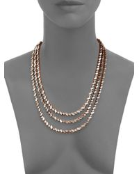 Erickson Beamon - Pink War Of Roses Crystal Multi-strand Necklace - Lyst