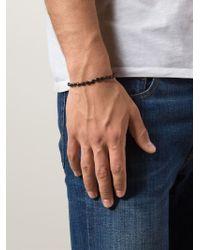Joseph Brooks - Black Beaded Bracelet for Men - Lyst