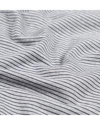 Sunspel | Gray Women's Loopback Cotton Sweatshirt With Printed Stripe | Lyst