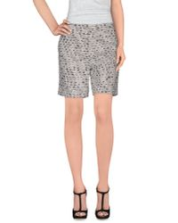 Rochas - Gray Bermuda Shorts - Lyst