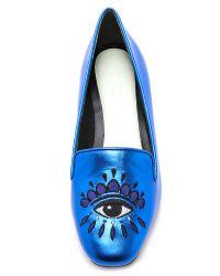 KENZO - Blue Eyes Smoking Slippers - Bleu Marine - Lyst