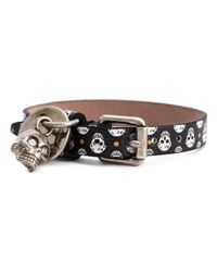 Alexander McQueen | Metallic Skull Charm Bracelet for Men | Lyst