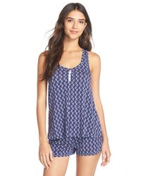 Splendid - Blue Piped Short Pajamas - Lyst