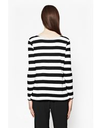 French Connection - Black Horizon Stripe Long-sleeved Top - Lyst
