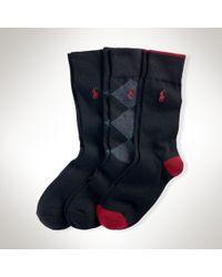 Polo Ralph Lauren | Blue Trouser Sock 3-pack for Men | Lyst
