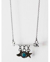 Free People | Blue Wanderluster Souls Necklace | Lyst