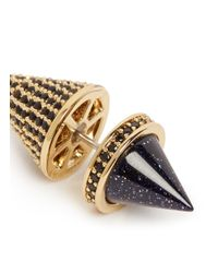 Eddie Borgo | Metallic Pavé Crystal Post Earrings | Lyst