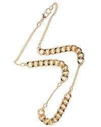 Monki | Metallic Karla Chain Necklace | Lyst