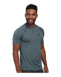 Asics - Blue Seamless Short Sleeve for Men - Lyst