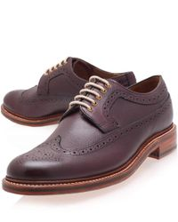 Foot The Coacher - Purple Men's Dylan Leather Brogues for Men - Lyst