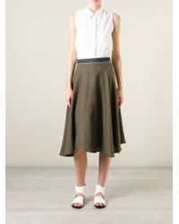 Societe Anonyme - Natural Pleated Circle Skirt - Lyst