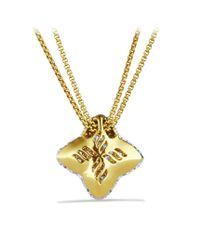 David Yurman | Metallic Quatrefoil Medium Pendant with Diamonds in Gold On Chain | Lyst