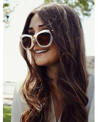 Free People - White Hanna Lux Sunglass - Lyst