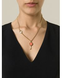 Marc By Marc Jacobs - Orange 'Party Key' Necklace - Lyst
