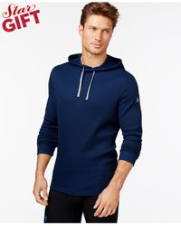 Under Armour | Blue Amplify Thermal Hoodie for Men | Lyst